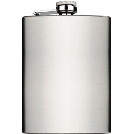 flask 240 ml 80z silver satin 94 x 134 x 20 mm