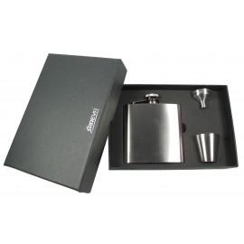hip flask 180ml/60z silver in gift box