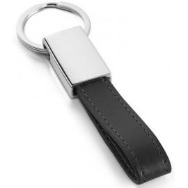 key ring imitation leather chrom in gift box
