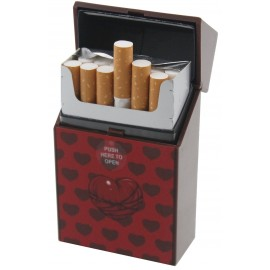 cigarettes case hearts in display of 12 pcs