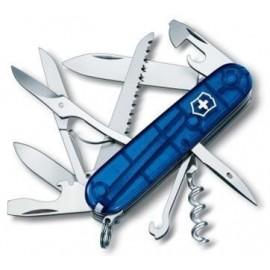 Couteau VICTORINOX Huntsman bleu translucide