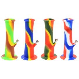 bong 22 cm silicone 4 colors assorted per 4 pcs