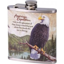hip flask chrome printed EAGLE 210 ml