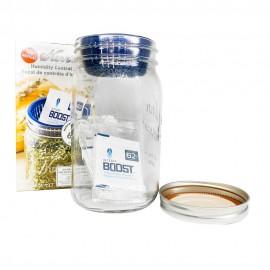 1L CBD storage jar with 6 x 4g 62% humidification sachets