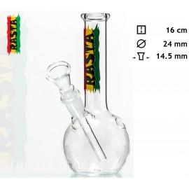 glass bong 16 cm Rasta, Ø 24 mm