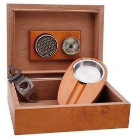 Set Humidor, ashtray, cigar cutter