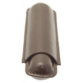 Etui cuir SAREVA marron 1 cigare corona/robusto