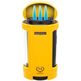 Myon cigar lighter 4 jet racing edition yellow