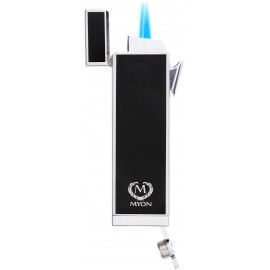 myon cigar lighter racing edition twin jet black with piercer