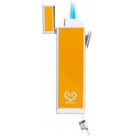 myon cigar lighter racing edition twin jet yellow with piercer