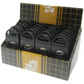 plastic cigar cutter 2 blade black mat per 24 pcs
