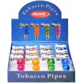 mini tobaccopipe2 balls assorted colors per 12 pcs