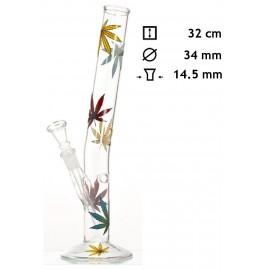 glass bong multi leaf 32 cm Ø 34 mm
