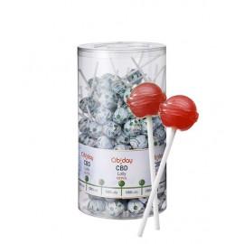Lollipop CBD Strawberry Cibiday (4mg CBD/sucette) Display 120pcs