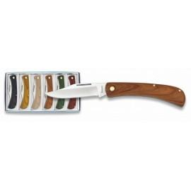 assortment 6 knifes 7 cm, wood