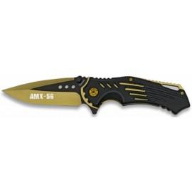 knife FOS AMX-56 black gold blade 9 cm