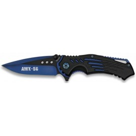 knife FOS AMX-56 black blue blade 9m