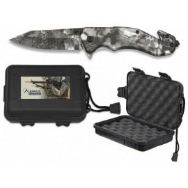 phyton camouflage knife 8.5 cm