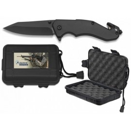 black knife ABS 8.5 cm with clip