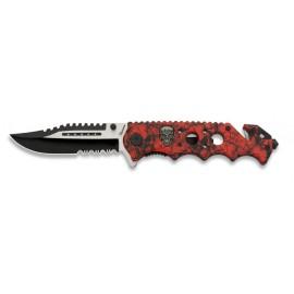 Fos skull knife Red/Black 8.9 cm