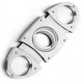 cigar cutter oval silver 90 x 40 x 4 mm
