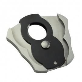 cigar cutter plier black/silver 68 x 43 x 6 mm