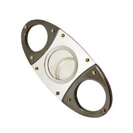 cigar cutter oval silver/gun 92 x 40 x 4 mm