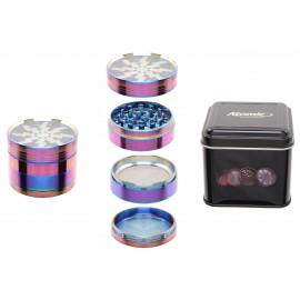 metal grinder rainbow 6.2 cm 4 parts per 6 pcs