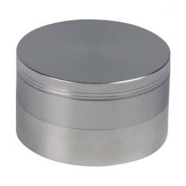 metal grinder chrom satin Ø 7.5 cm, 4 parts in individuel gift box