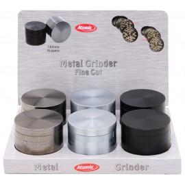 metal grinder 3 colors assorted 6 cm 4 parts per 6 pcs