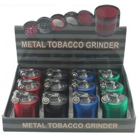 metal grinder windwill Ø 4 cm, 4 parts assorted per 12 pcs