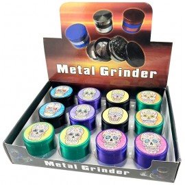 metal grinder La Catrina Ø 4.8 mm, 4 parts assorted per 12 pcs