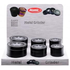 metal grinder black silver leaves Ø 40, 50, 60 mm assorted per 6  pcs