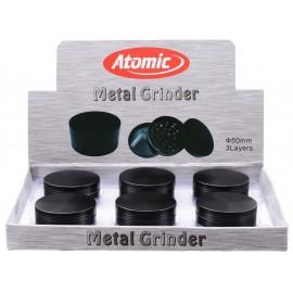 metal grinder black Ø 5 cm, 3 parts per 6 pcs