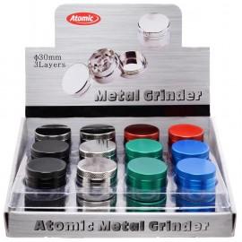 grinder metal ass 6 colors, 4 parts, per 24 pcs