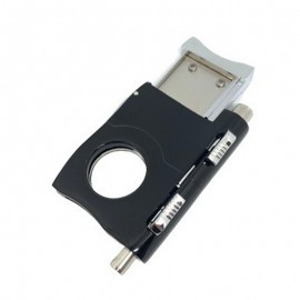 cigar cutter with 2 guillotine black 62 x 45 x 15 mm