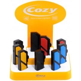 cozy SL jet lighter with piercer assorted per 9 pcs