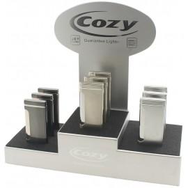 Cozy Turbo Slim lighter assorted per 9 pcs