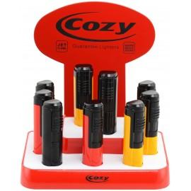 Cozy jet flame lighter Kentucky assorted per 9 pcs