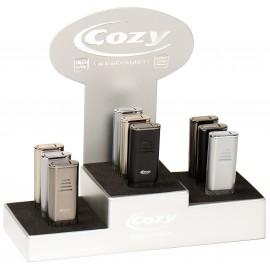 Cozy turbo lighter Genesis assorted per 9 pcs