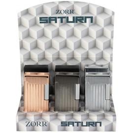 Flint Saturn lighter assorted per 6 pcs