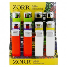 zorr dublin turbo lighter assorted per 12 pcs